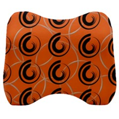 Background Pattern Retro Velour Head Support Cushion