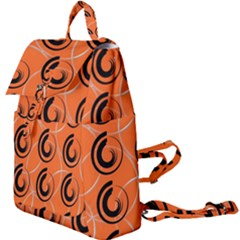 Background Pattern Retro Buckle Everyday Backpack
