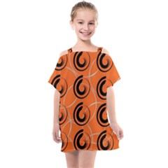 Background Pattern Retro Kids  One Piece Chiffon Dress