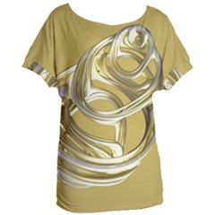 Fractal Abstract Artwork Women s Oversized Tee by HermanTelo