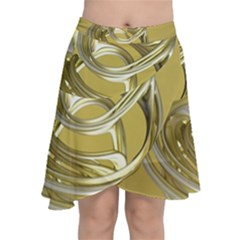 Fractal Abstract Artwork Chiffon Wrap Front Skirt
