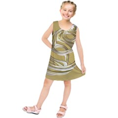 Fractal Abstract Artwork Kids  Tunic Dress by HermanTelo