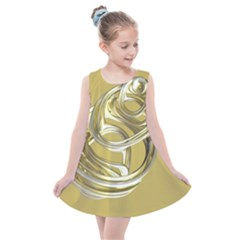 Fractal Abstract Artwork Kids  Summer Dress by HermanTelo