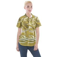 Fractal Abstract Artwork Women s Short Sleeve Pocket Shirt