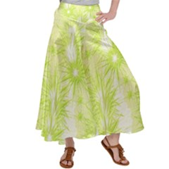 Background Green Star Satin Palazzo Pants by HermanTelo