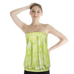 Background Green Star Strapless Top