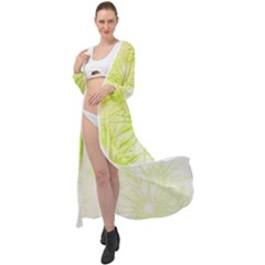 Background Green Star Maxi Chiffon Beach Wrap