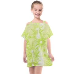 Background Green Star Kids  One Piece Chiffon Dress