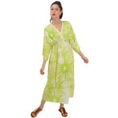 Background Green Star Grecian Style  Maxi Dress