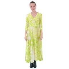 Background Green Star Button Up Maxi Dress by HermanTelo
