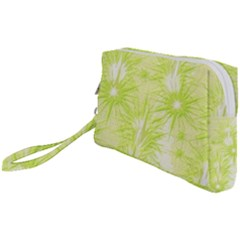 Background Green Star Wristlet Pouch Bag (small)