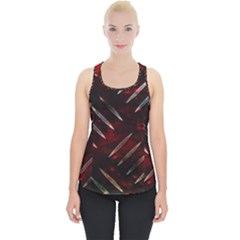 Background Red Metal Piece Up Tank Top