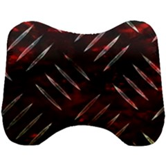 Background Red Metal Head Support Cushion