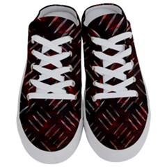 Background Red Metal Half Slippers