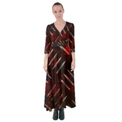 Background Red Metal Button Up Maxi Dress