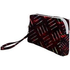 Background Red Metal Wristlet Pouch Bag (small)