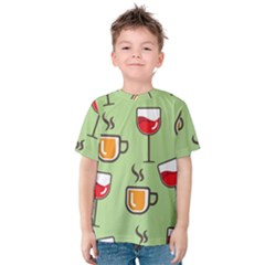 Cups And Mugs Kids  Cotton Tee