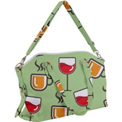 Cups And Mugs Canvas Crossbody Bag