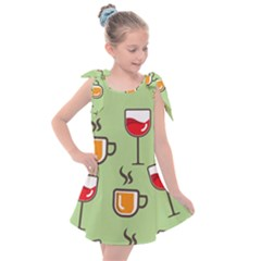 Cups And Mugs Kids  Tie Up Tunic Dress