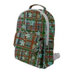 Textile Fabric Flap Pocket Backpack (large)