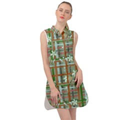 Textile Fabric Sleeveless Shirt Dress by HermanTelo