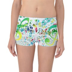 Circle Music Pattern Boyleg Bikini Bottoms