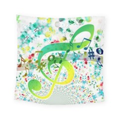 Circle Music Pattern Square Tapestry (small)