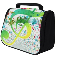 Circle Music Pattern Full Print Travel Pouch (big)