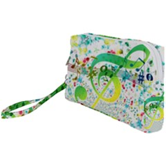 Circle Music Pattern Wristlet Pouch Bag (small)