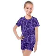 Pattern Color Ornament Kids  Mesh Tee And Shorts Set by HermanTelo