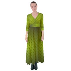Hexagon Background Line Button Up Maxi Dress