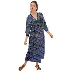 Blue Fern Grecian Style  Maxi Dress by treegold