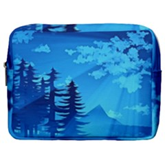 Forest Landscape Pine Trees Forest Make Up Pouch (large)