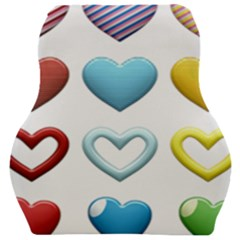 Puffy Hearts Heart Clipart Hearts Car Seat Velour Cushion  by Pakrebo