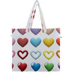 Puffy Hearts Heart Clipart Hearts Canvas Travel Bag by Pakrebo
