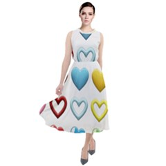 Puffy Hearts Heart Clipart Hearts Round Neck Boho Dress