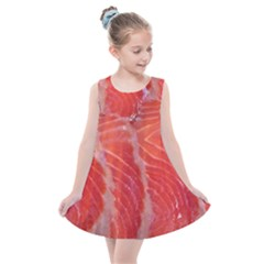 Food Fish Red Trout Salty Natural Kids  Summer Dress
