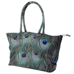 Peacock Feather Pattern Plumage Canvas Shoulder Bag