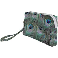 Peacock Feather Pattern Plumage Wristlet Pouch Bag (small)