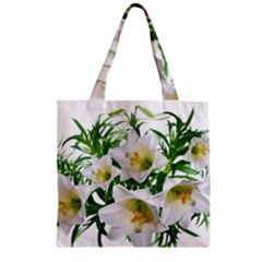 Lilies Flowers Perfume Arrangement Zipper Grocery Tote Bag