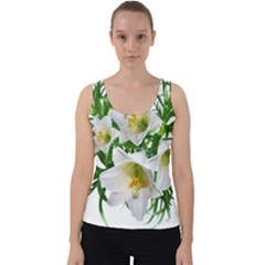 Lilies Flowers Perfume Arrangement Velvet Tank Top