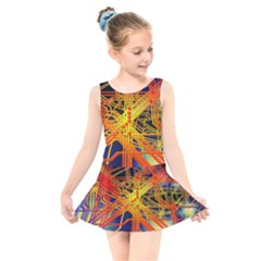 Board Circuits Control Center Trace Kids  Skater Dress Swimsuit