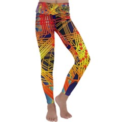 Board Circuits Control Center Trace Kids  Lightweight Velour Classic Yoga Leggings by Pakrebo