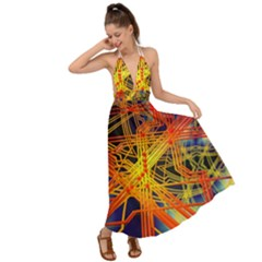 Board Circuits Control Center Trace Backless Maxi Beach Dress