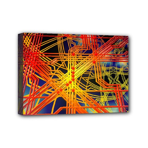 Board Circuits Control Center Trace Mini Canvas 7  X 5  (stretched) by Pakrebo