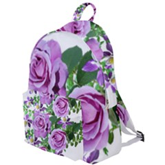 Flowers Roses Aquilegias Ferns The Plain Backpack