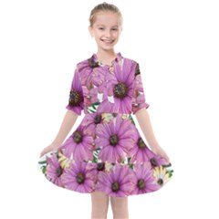 Flowers Daisies Arrangement Garden Kids  All Frills Chiffon Dress