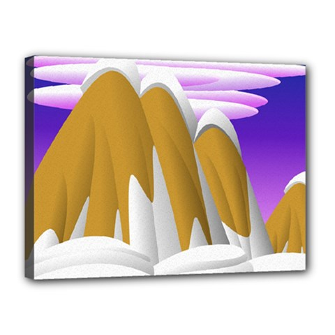 Europa Positive Thinking Mountain Canvas 16  X 12  (stretched) by Pakrebo