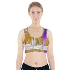Europa Positive Thinking Mountain Sports Bra With Pocket by Pakrebo