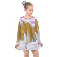 Europa Positive Thinking Mountain Kids  Long Sleeve Dress by Pakrebo